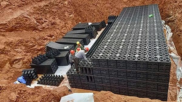 南京远洋绿地云峰公馆雨水收集pp模块案例2