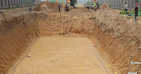 雨水收集系统挖基坑